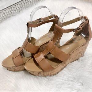Franco Sarto Shoes - Franco Sarto Falco Platform Wedge Sandal EUC